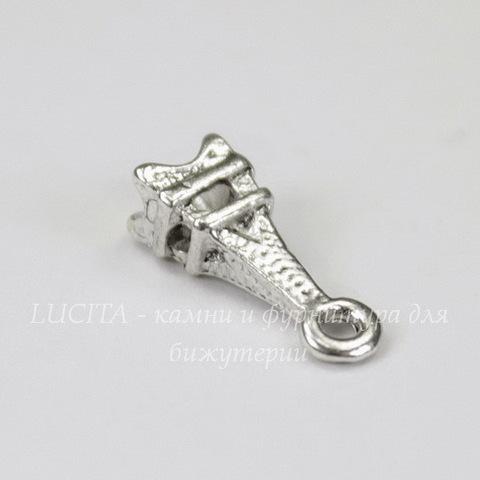 """Подвеска """"Эйфелева башня"""" 3D 14х5 мм (цвет - античное серебро), 5 штук"""