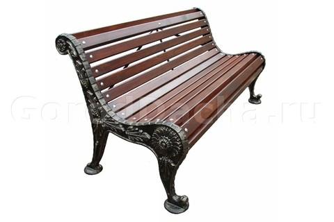 Скамейка чугунная «Хризантема»