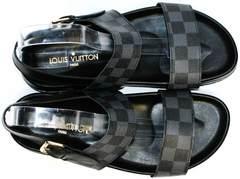Сандалии мужские кожаные Louis Vuitton 1008 01Blak.