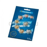 Комплект капсул для полоного Евро набора (8 капсул от 1евроцента до 2 евро)