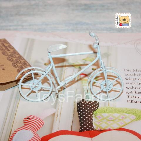 Мини велосипед городской белый 8,9х5,2см М153