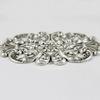 Винтажный декоративный элемент - штамп 84х48 мм (оксид серебра)