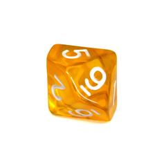 Куб D10 прозрачный: Желтый