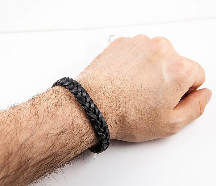 BM568-1 Плетеный браслет из натуральной кожи фото 09