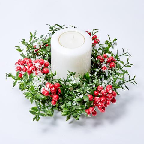 """Праздничный венок для свечи """"СНЕЖНЫЙ"""""""