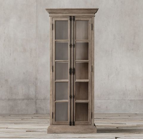 French Casement Narrow Double-Door Cabinet