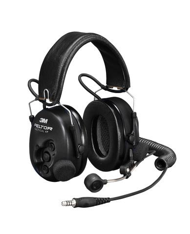 Активные наушники Tactical XP, микрофон на жёсткой штанге, складное оголовье, чёрные чашки