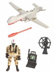 Chap Mei Игровой набор Солдат с самолетом-беспилотником, ракетами и фигуркой (545005-2)