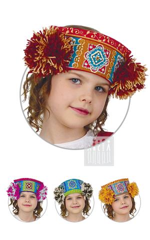 Фото Московский кокошник девичий рисунок Московский сарафан - накидка