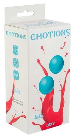Тяжелые вагинальные шарики без сцепки Emotions Lexy Large turquoise (3 см; 150 гр)