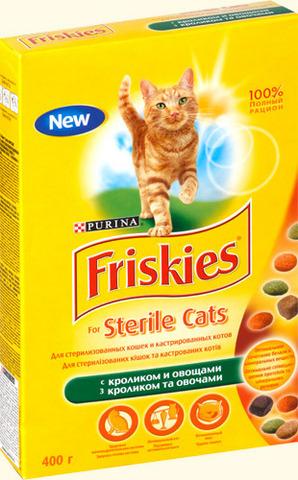 Friskies Сухой корм для стерилизованных кошек с кроликом и овощами Prpib, 400г