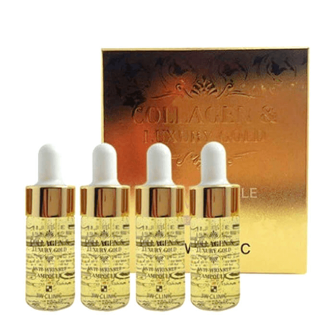 3W CLINIC Collagen & Luxury Gold Anti Wrinkle Ampoule Сыворотка