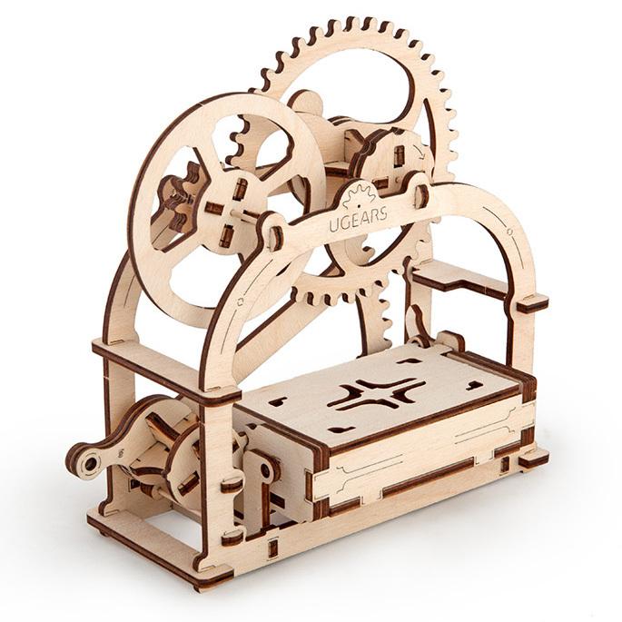 Конструктор 3D-пазл Ugears - Визитница-шкатулка U-70001