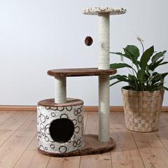 Trixie домик для кошки Casta, высота 95 см коричневый/бежевый