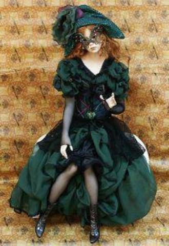 Кукла фарфоровая коллекционная Marigio Colombina
