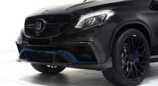 Карбоновая накладка переднего бампера  для Mercedes GLE