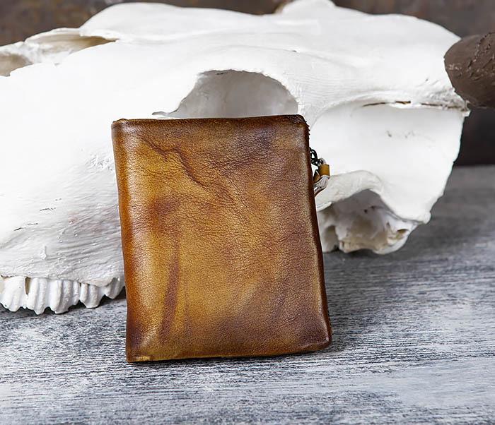 WL304-2 Винтажный кошелек из натуральной кожи