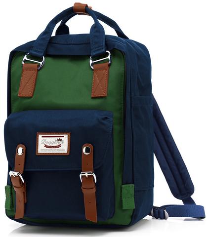Рюкзак Nikki Macaroon Синий + Зеленый