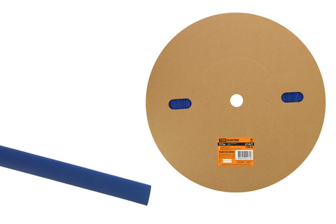 Термоусаживаемая трубка ТУТнг 14/7 синяя (100 м/ролл) TDM