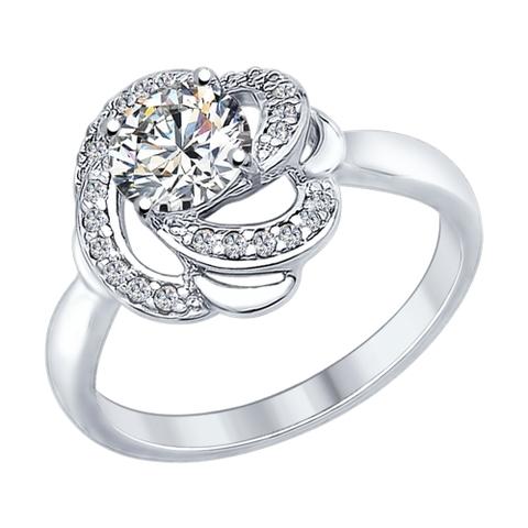 Кольцо из серебра с кристаллом SWAROVSKI от  SOKOLOV арт.89010049