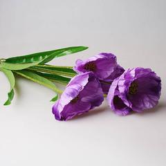 Маки, букет фиолетовый 9132