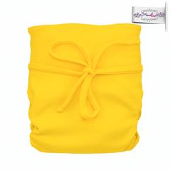 Подгузник на завязках из  хлопка Mamalino Желтый (3 - 15 кг)