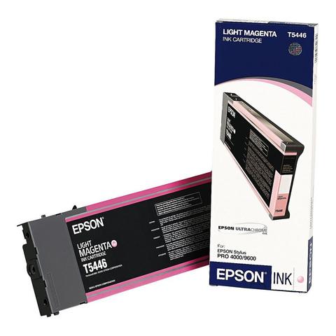 Картридж Epson T5446 для принтеров Stylus Pro 9600, светло-пурпурный (C13T544600)