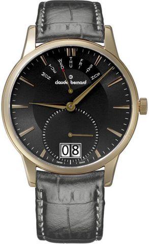 Купить мужские наручные часы Claude Bernard 34004 37R GIR по доступной цене