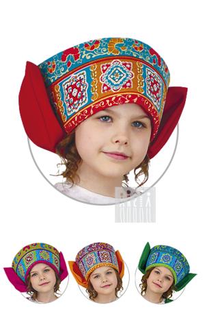 Фото Московский кокошник с бантом рисунок Московский сарафан - накидка