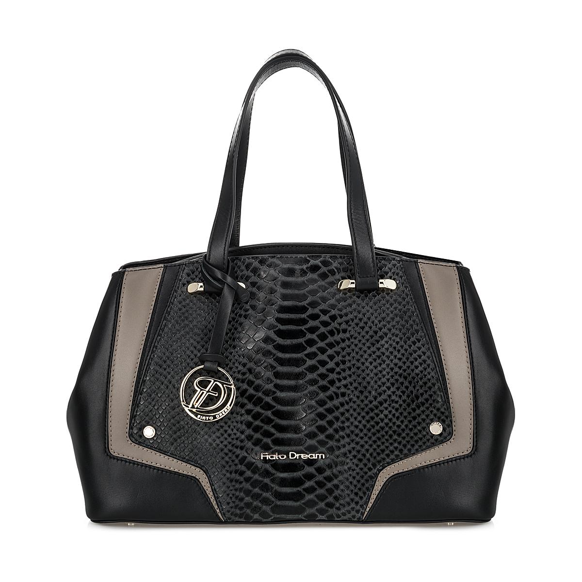 2627 FD кожа /питон черный (сумка женская)