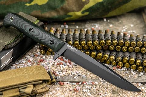 Тактический нож Intruder 440C Black Titanium
