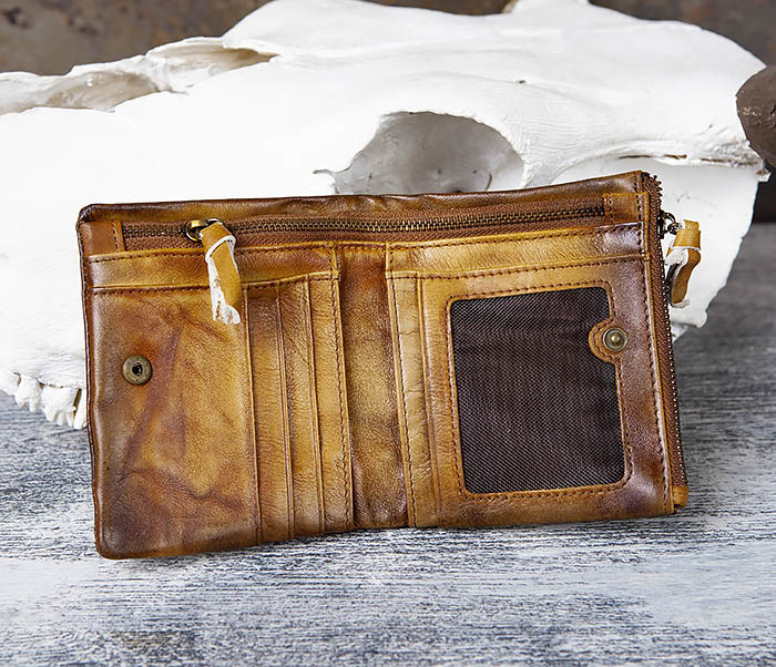 WL304-2 Винтажный кошелек из натуральной кожи фото 04