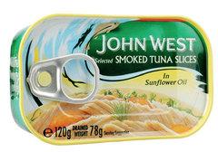 Тунец кусочками подкопченный John West, 120г