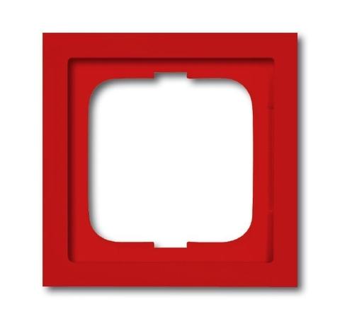 Рамка на 1 пост. Цвет Красный. ABB(АББ). Future Linear(Фьючер Линеар). 1754-0-4371