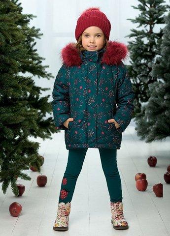 Pelican GZWL3078/1 Куртка для девочек зимняя изумрудная