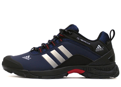 Кроссовки Мужские ADIDAS TERREX ClimaProof Navy Blue Black Red  (С Мехом)