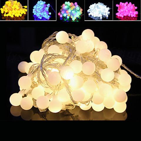 Шарики гирлянды led 5метров теплый белый свет