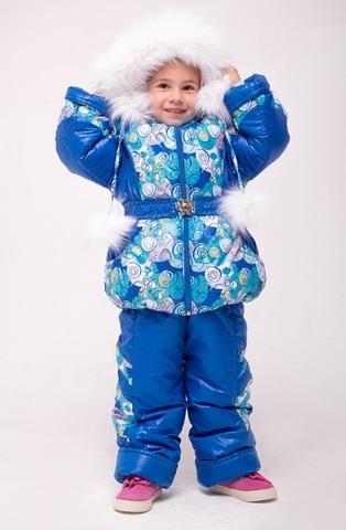 Зимний комбинезон-костюм Dina синий