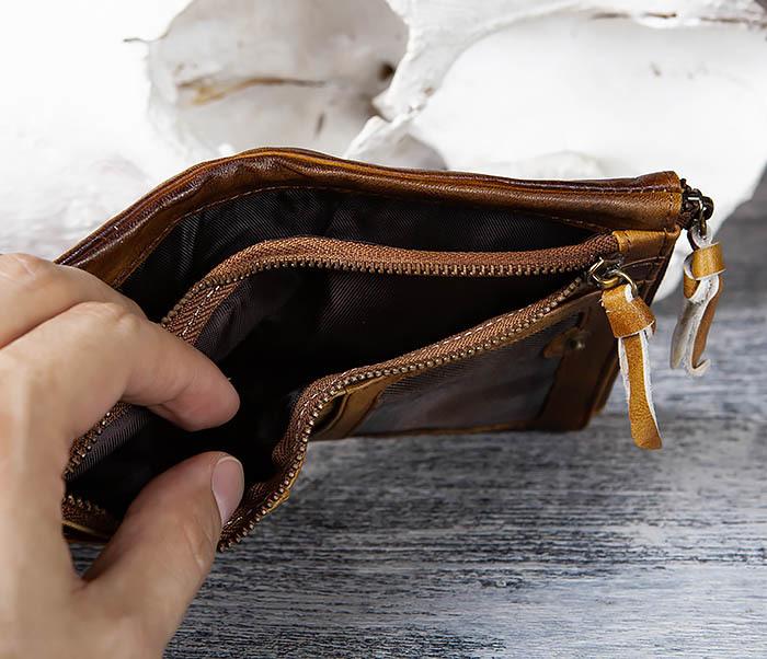 WL304-2 Винтажный кошелек из натуральной кожи фото 06