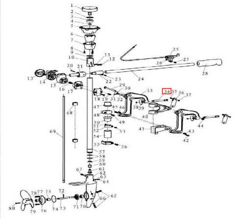 Винт зажима струбцины для лодочного мотора T3,5 Sea-PRO
