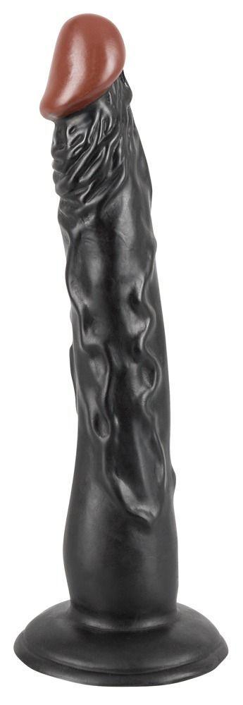Реалистичные: Чернокожий фаллоимитатор на присоске African Lover - 18 см.