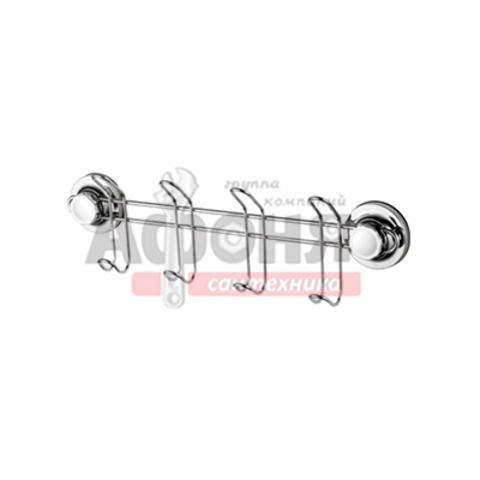 3716-4/L Планка с 4-я крючками на присосках