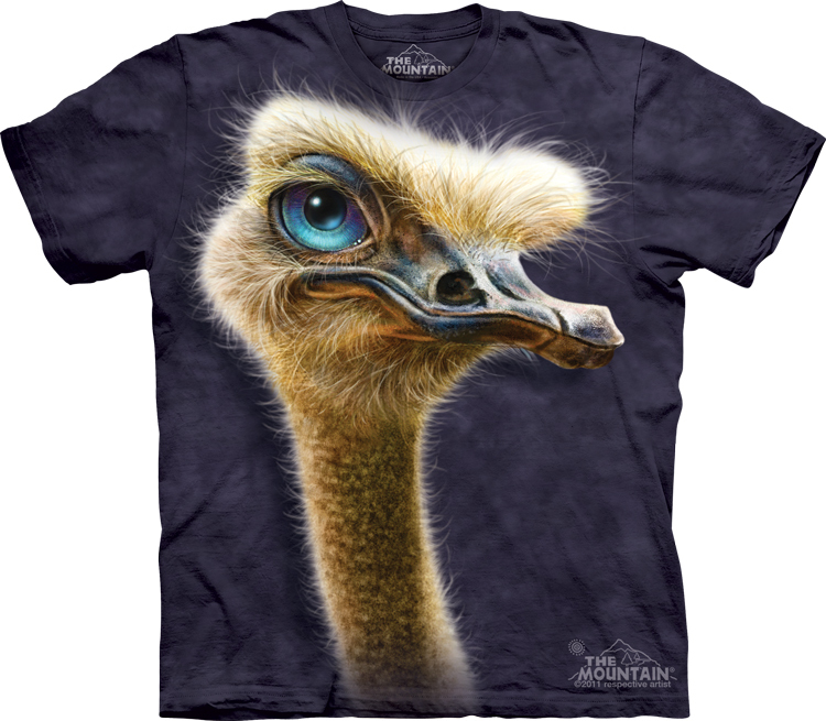 Футболка  Mountain с изображением страуса - Ostrich Totem