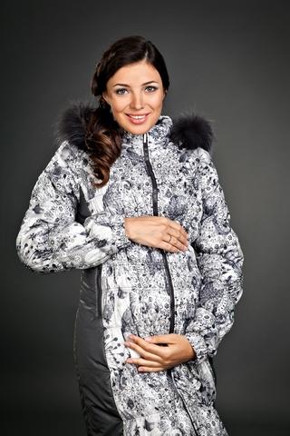 Куртка для беременных 05165 черно-белый