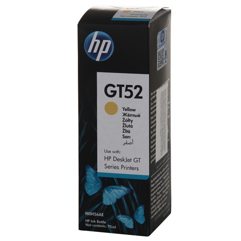 Чернила HP GT52 желтые 70 мл. 8000 стр. (M0H56AE)
