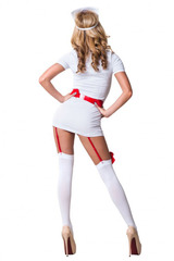 Ролевой костюм медсестры с пажами для эротических игр