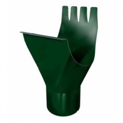 Воронка желоба ф125/90 (RAL 6005-зеленый мох)