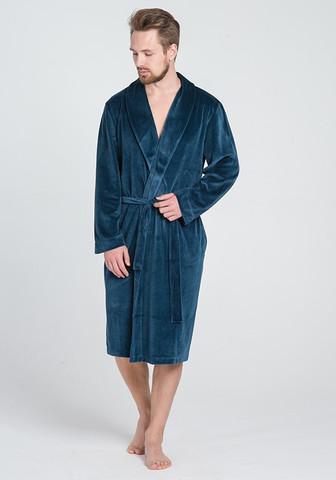 Велюровый мужской халат