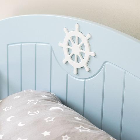 Кровать подростковая Юнга Голубая