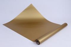 Матовая бумага (Н) 50см*10м 50мкр.золото